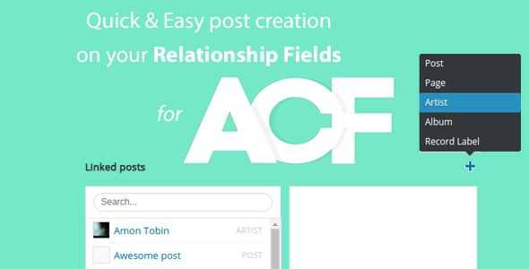 Quick and easy Post creation for ACF Relationship Fields PRO