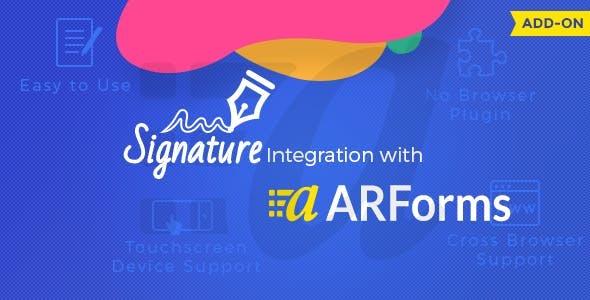 ARForms - Signature Addon