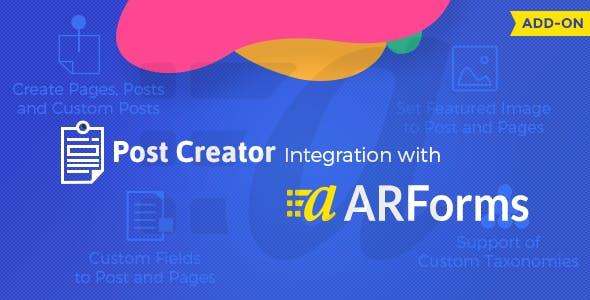 ARForms - Post Creator Addon