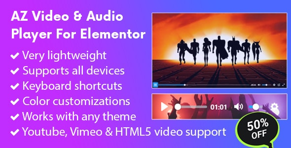 AZ Video and Audio Player for Elementor