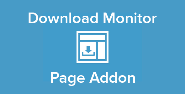Download Monitor - Page Addon