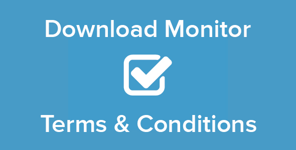 Download Monitor - Terms & Conditions