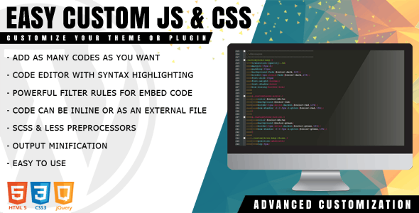 Easy Custom JS and CSS