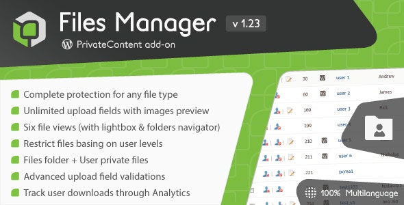 PrivateContent - Files Manager
