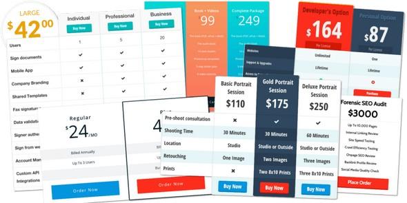 Easy Pricing Tables Premium