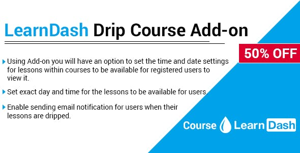LearnDash Drip Course Add-on