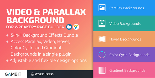 Video & Parallax Backgrounds For WPBakery Page Builder