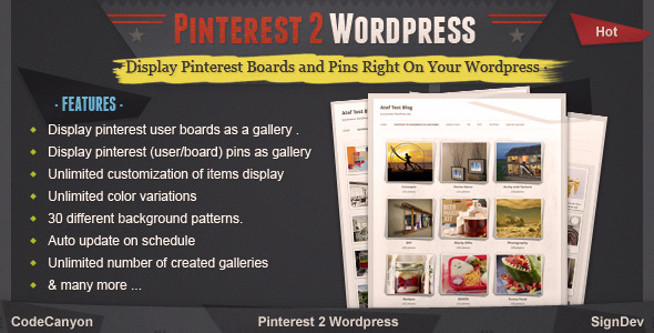 Pinterest to WordPress