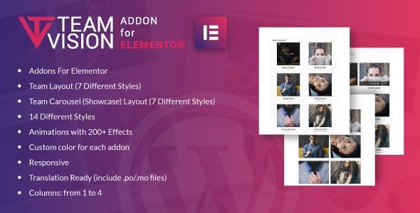 Teamvision for Elementor