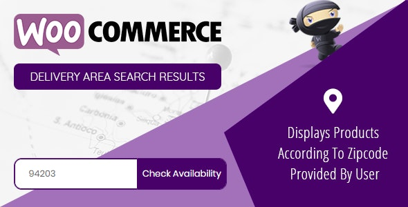 Woocommerce Delivery Area Search Results