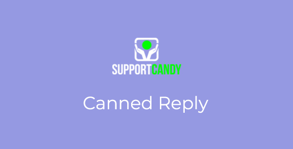 SupportCandy - Canned Reply