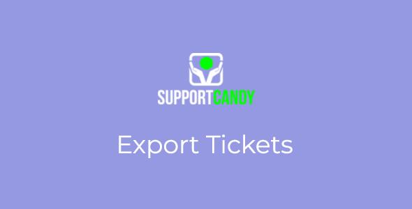 SupportCandy - Export Ticket